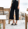 Marble 7/8 cropped pant - black