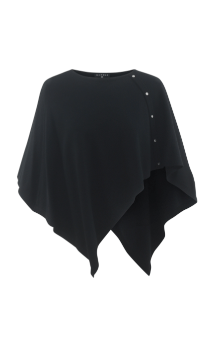 Marble cotton cape -  black