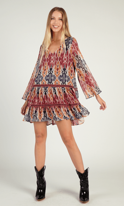 Sadie & Sage traveling the world tunic/dress - multi