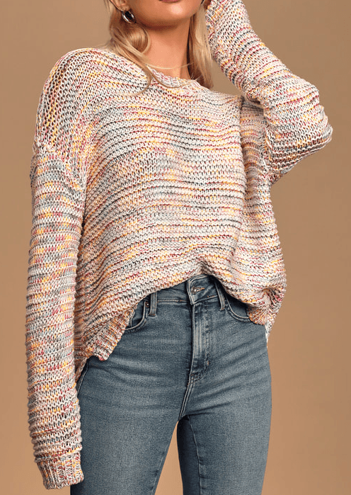 Rag Poets gardenia multi knit sweater