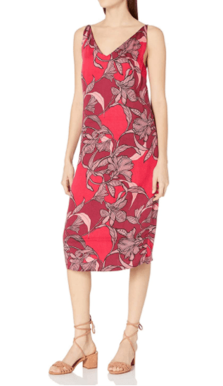 Mink Pink Red Multi Femme Fatel Slip Dress