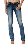Miss Me Mid Rise Slim Boot Cut Jeans