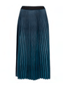 Esqualo skirt plisse teal blue