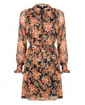 Esqualo dress flower print