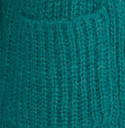 Esqualo lurex cardigan teal green