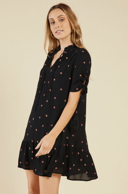 Sadie & Sage Bonfire embroidered dress