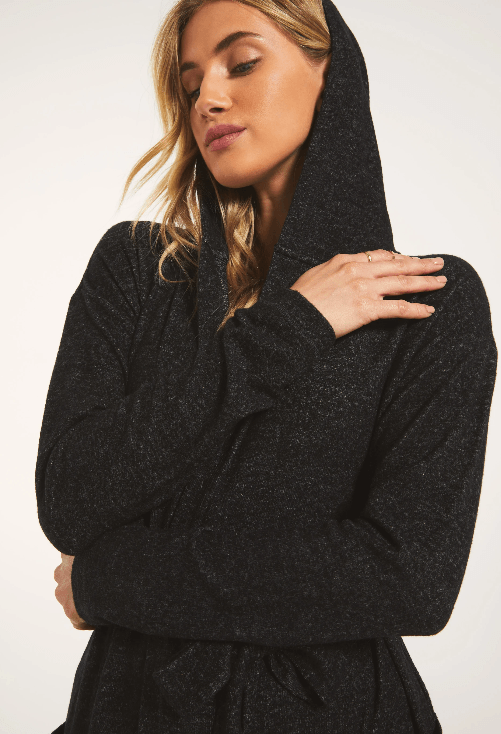 Z Supply Heather Black Cassie Marled Cardigan