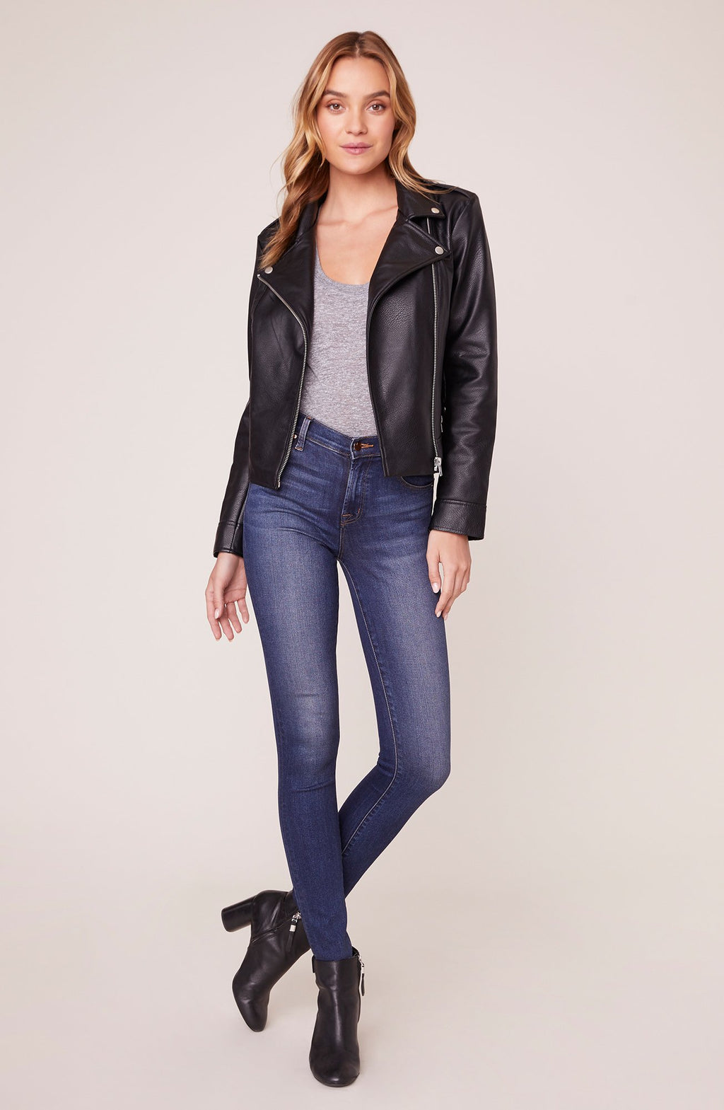 BB Dakota moto finish textured jacket