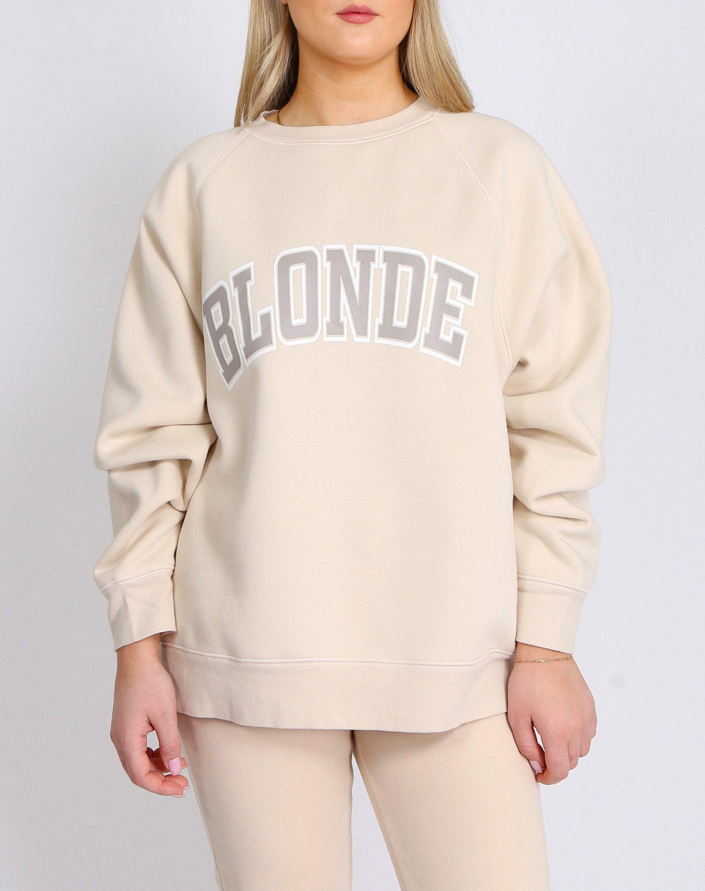 "Brunette the Label The ""BLONDE"" Not Your Boyfriend's Crew Neck Sweatshirt 