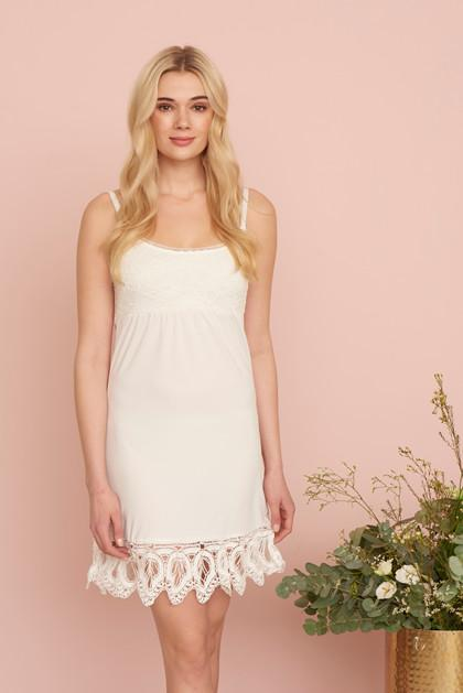 Cream lace detail mitzy underdress