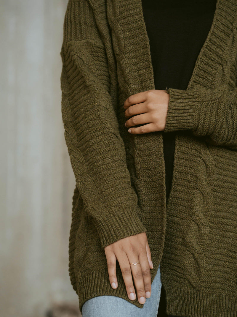 Be the Roster Change The World Cardigan- Olive Green