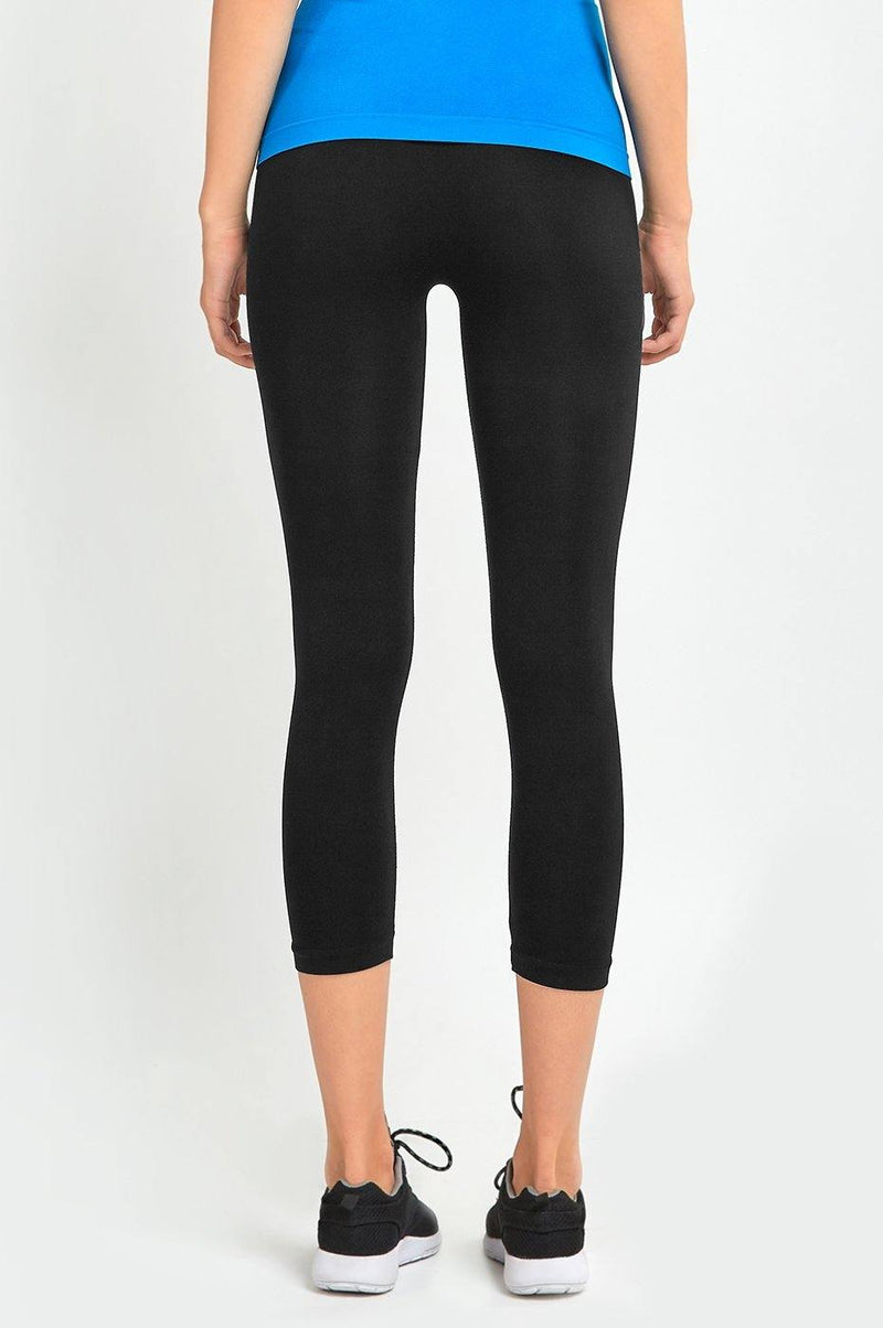 Black Capri Leggings (free size)