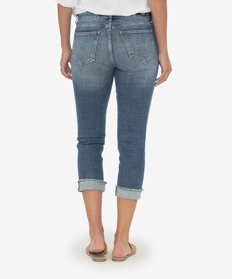 KUT from the Kloth AMY CROP STRAIGHT LEG (BUBBLY WASH)