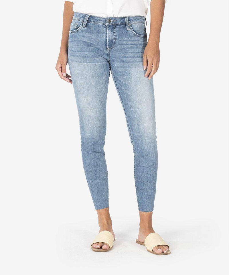 KUT from the Kloth CONNIE SLIM FIT CROP SKINNY (ADAPT WASH)