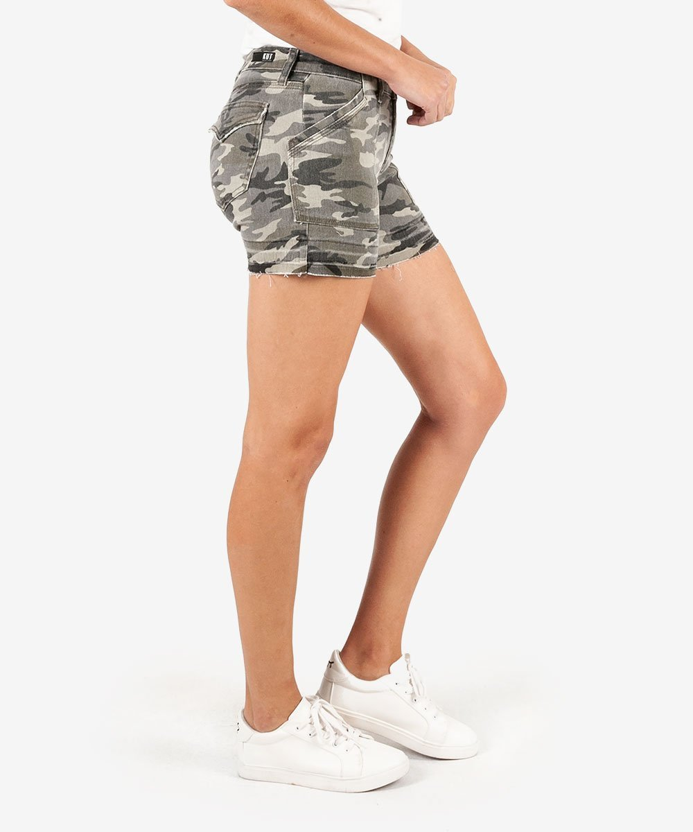 Kut from the Kloth Camo jean shorts