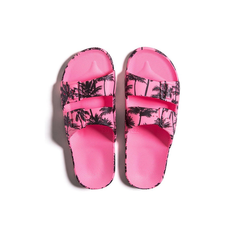 Freedom Moses Palm trees neon pink slides