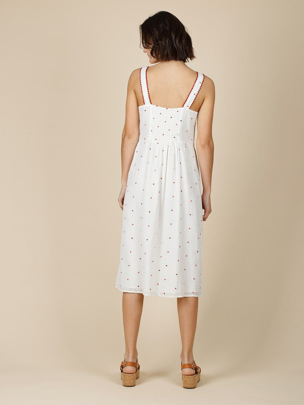 Indi & Cold embroidered white cotton Summer dress