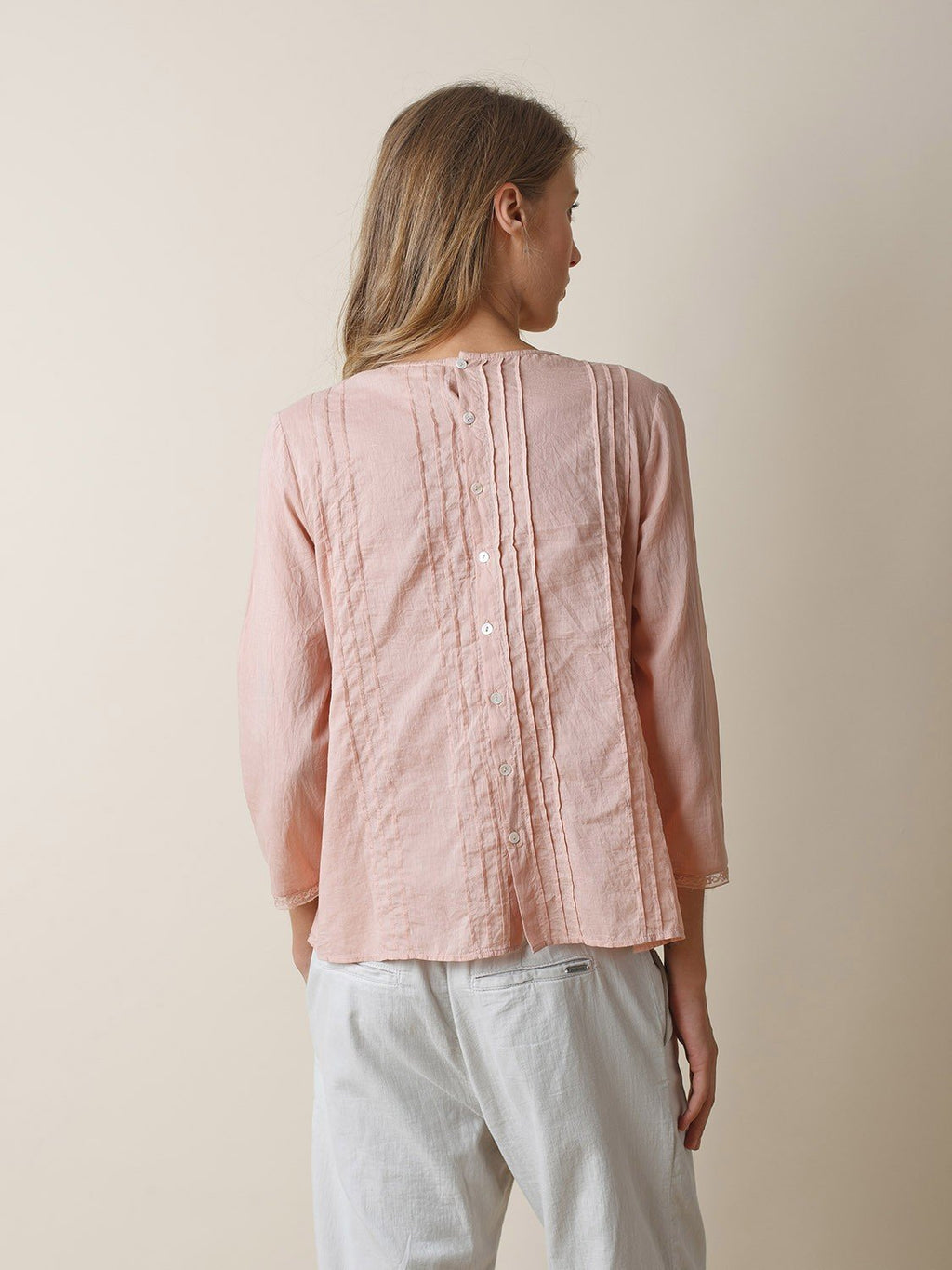 Indi & Cold powder pink blouse