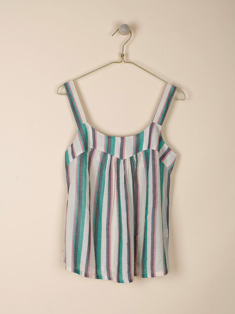 Indi & Cold green multi striped tank