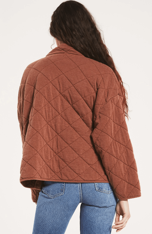 Z Supply Maya quilted jacket - whiskey