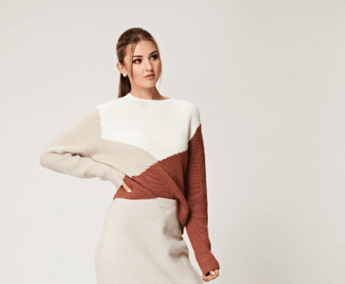 AngelEye Cream/Stone Brown Cleo Sweater