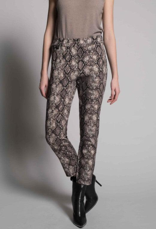 Picadilly leopard print ankle pants - taupe multi
