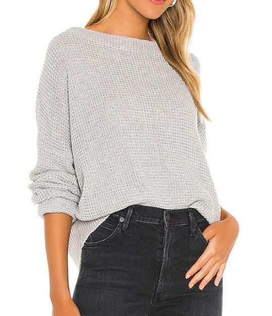 Mink Pink Jayden knit sweater - Grey Marle