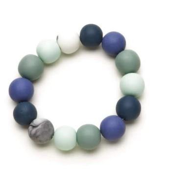 Blue Mix Resin Ball Bracelet