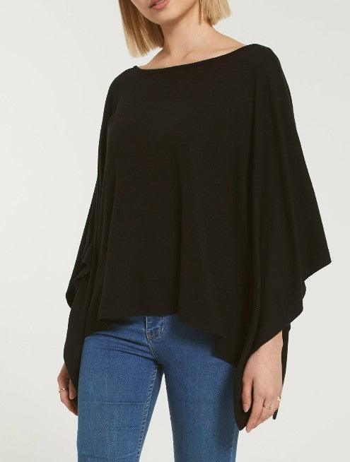 Z Supply Ruby Marled Poncho - Black