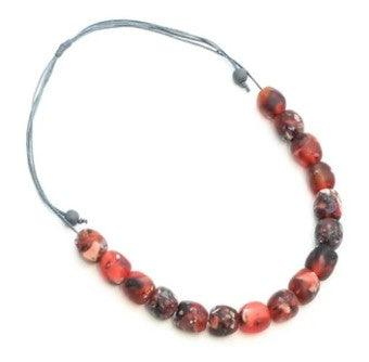 Jelly Bead Necklace - Red