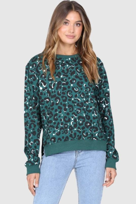 Madison the Label Leopard Sweatshirt