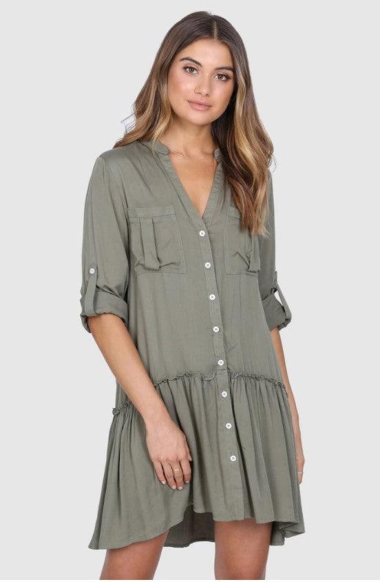 Madison The Label Karina Dress - Khaki