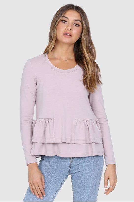 Madison the Label Kaely Top - Dusty Pink