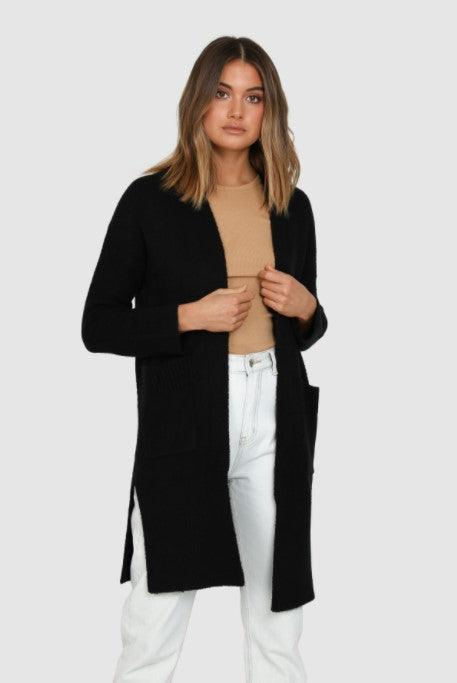 Lost in Lunar Parker Knit Cardigan - Black