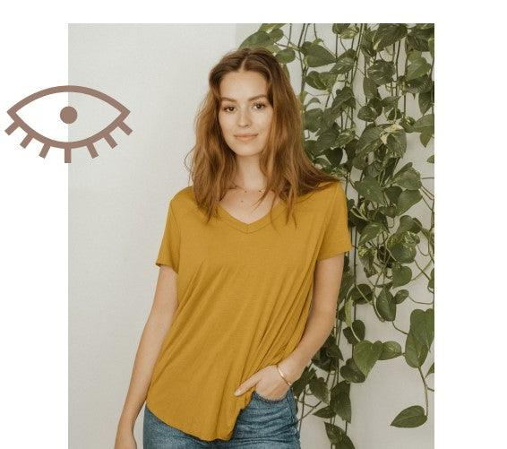 Jackson Rowe GIRLFRIEND TEE - OCHER