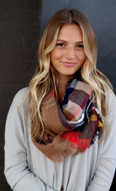 Infinity Scarf - navy & cream