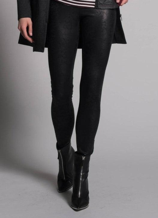 Picadilly Shimmer Legging - black leather look