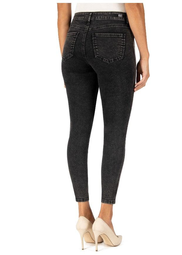 Kut From The Kloth Connie High Rise Ankle Skinny Jeans - Black
