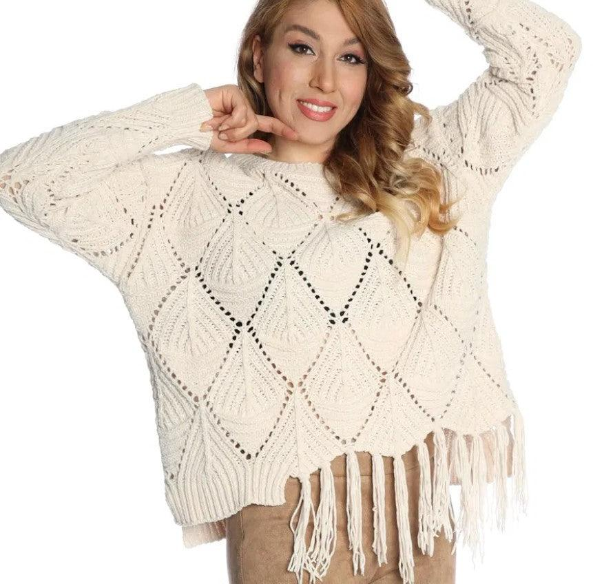 Michael Tyler long sleeve sweater - natural