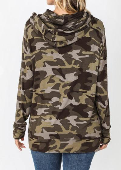 Army camo hoodies with kangaroo pocket