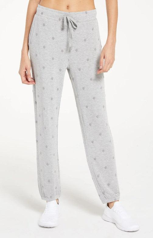 Z Supply Marcel Dot Jogger - heather grey
