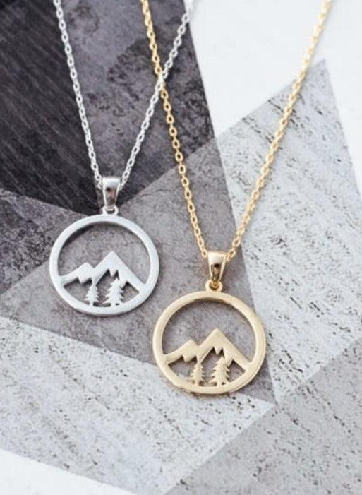 Whistler Mountain Pendant - GOLD
