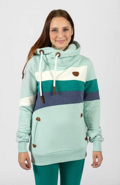 Wanakome Topa oceanside color block Hoodie
