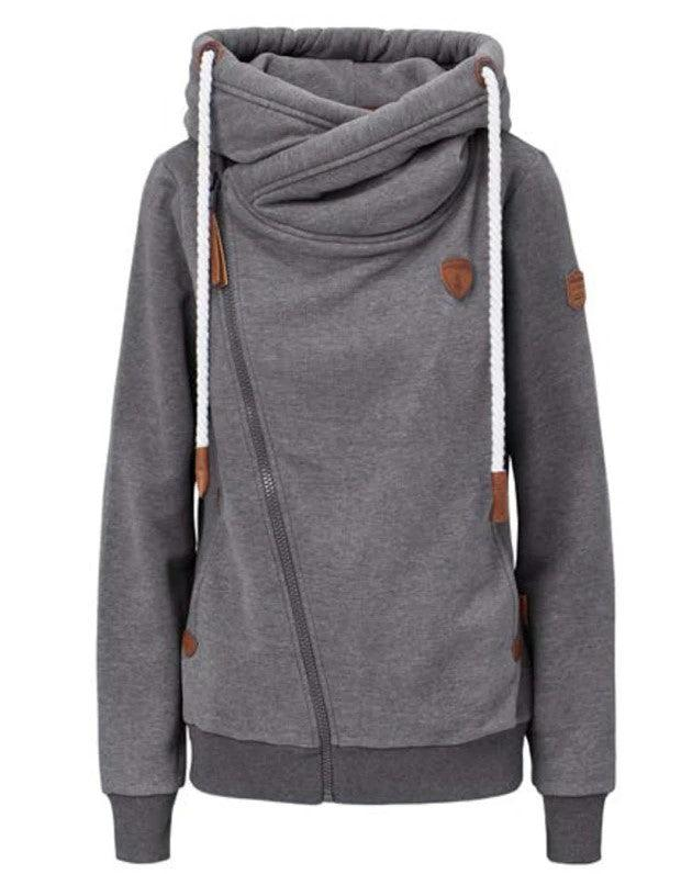 Wanakome Athena Hoodie Zip - Dark heather Grey
