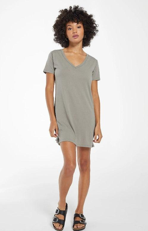 Z Supply organic cotton t-shirt dress/tunic - dusty sage