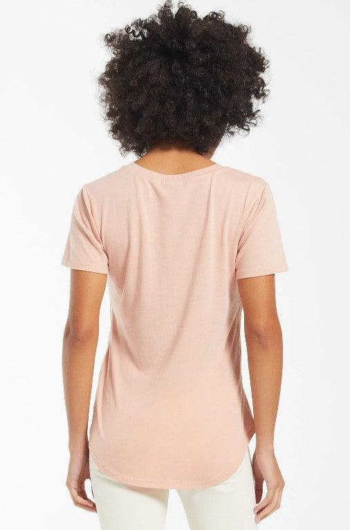 Z Supply Pocket tee - Soft peach