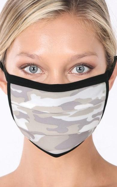 Sage Camo washable cotton mask