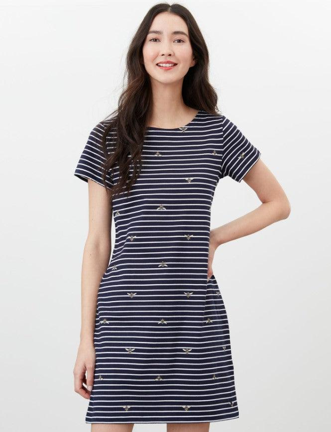 "Joules Riviera 'Bee"" striped dress - Navy"