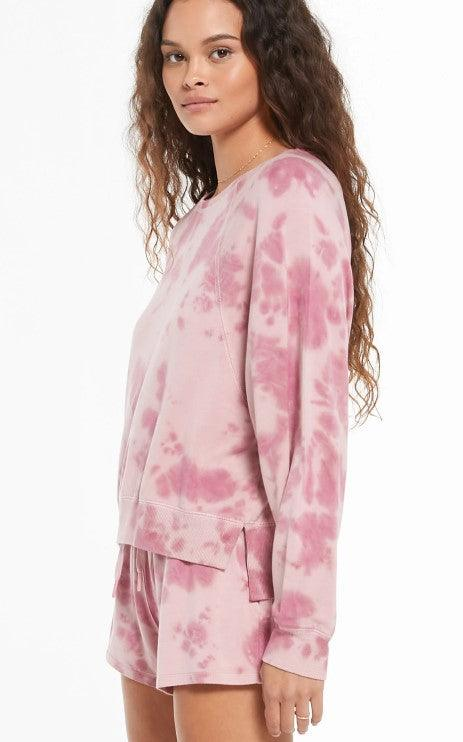 Z Supply Sleep over tie dye top - violet ash