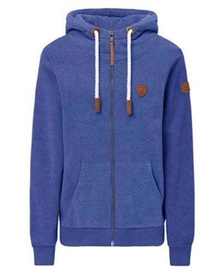 Wanakome Hera Terry Strong Blue Zip Hoodie